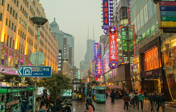 Nanjing Road Shanghai – via dello shopping