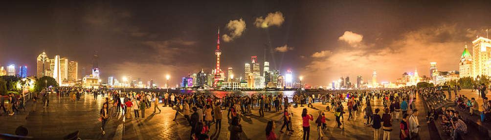 Shanghai il bund - passeggiata panoramica