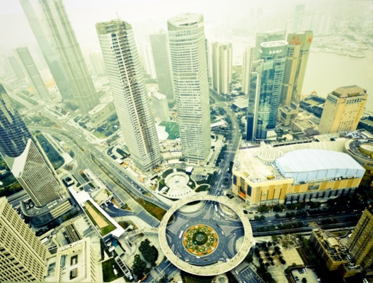 panorama dall'orientalpearltower shanghai